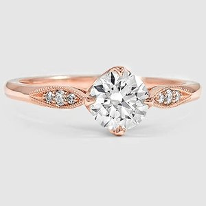 14K Rose Gold Jolie Diamond Ring