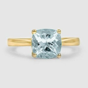 18K Yellow Gold Sapphire Petite Tapered Trellis Ring