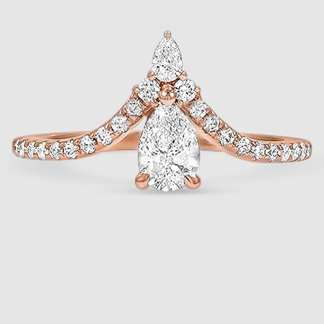 b9eb47b159be2 14K Rose Gold Nouveau Diamond Ring