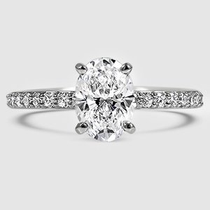 Platinum Petite Shared Prong Diamond Ring (1/4 ct. tw.)