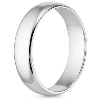18K White Gold 5MM COMFORT FIT WEDDING RING