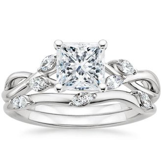 pic - Princess Cut Wedding Ring Sets