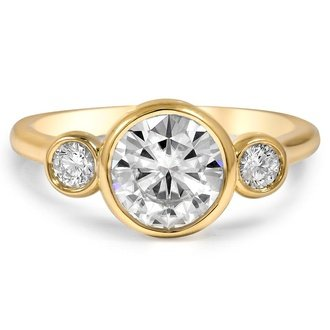 in engagement rings p bezel white set wedding gold diamond angle half