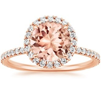14k rose gold morganite waverly ring - Alternative Wedding Rings