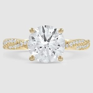 18K Yellow Gold Sapphire Petite Luxe Twisted Vine Diamond Ring (1/4 ct. tw.)