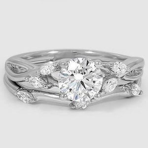 Platinum Willow Bridal Set (1/4 ct. tw.)