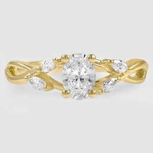 18K Yellow Gold Willow Diamond Ring (1/8 ct. tw.)