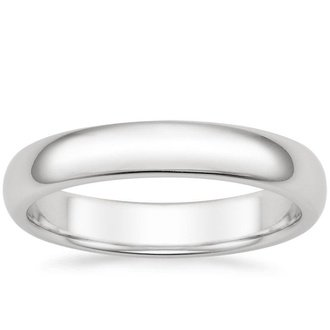 18k white gold 4mm comfort fit mens wedding ring - Wedding Ring Mens