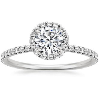 white gold rings solitaire engagement carat total diamond round ring karat