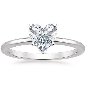 14K Yellow Gold Diamond Heart Shape Engagement Wedding Ring Set 1/2 Ct