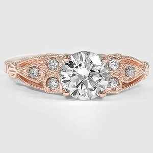 14K Rose Gold Rosabel Diamond Ring
