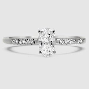 18K White Gold Sonora Diamond Ring