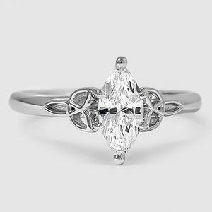 18K White Gold Celtic Love Knot Ring