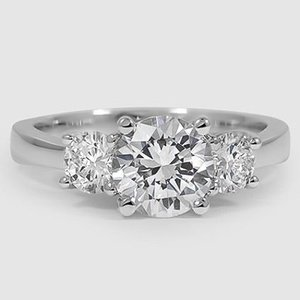 a170ab3f956ca2 18K White Gold Three Stone Trellis Diamond Ring (1/2 ct. tw.