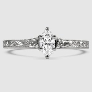 18K White Gold Hudson Ring