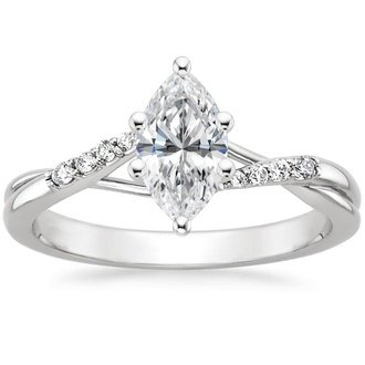 18k white gold chamise diamond ring - Marquise Wedding Rings