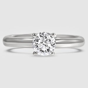 18K White Gold 2.5mm Comfort Fit Ring