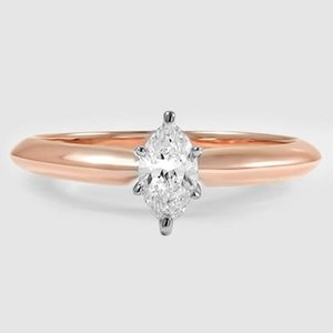 14K Rose Gold Six-Prong Classic Ring
