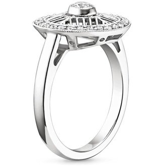 18k white gold - Non Traditional Wedding Rings