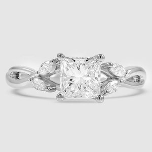 Platinum Willow Diamond Ring