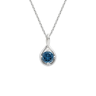 London Blue Topaz Twist Pendant Image