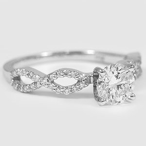 18K White Gold Infinity Diamond Ring