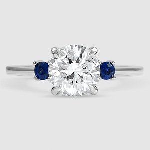 Sapphire Accent Ring Selene With Sapphires Brilliant Earth