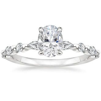 Round and Marquise Engagement Ring