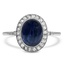 Art Deco Reproduction Sapphire Vintage Ring