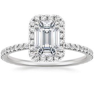 18K White Gold WAVERLY DIAMOND RING