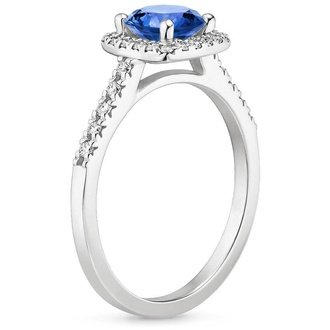 18k white gold sapphire - Wedding Rings With Sapphires