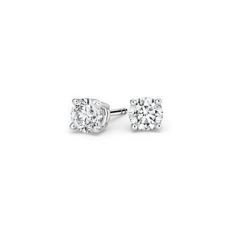 Round Diamond Stud Earrings (1/2 ct. tw.) in Platinum