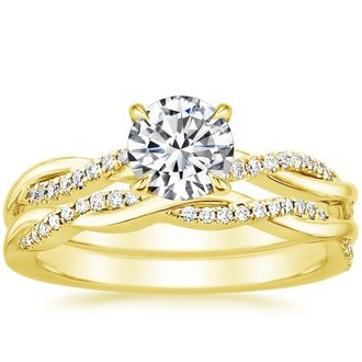 Yellow Gold Bridal Sets Wedding Ring Sets Brilliant Earth