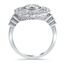 Lacy Halo Ring, smallside view