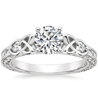 18k white gold aberdeen diamond ring - Wedding Rings Vintage