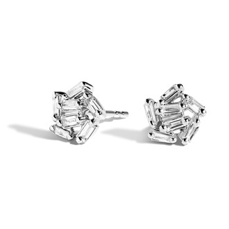 Baguette Diamond Cluster Earrings (1/2 ct. tw.) Image