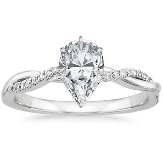 shank engagement split halo vintage rings pear diamond ring wedding