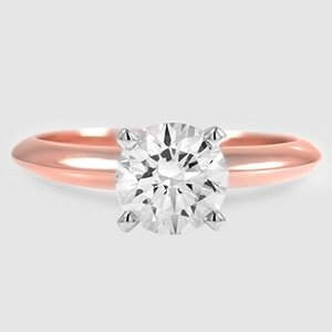 14K Rose Gold Four-Prong Classic Ring