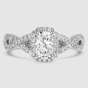 Twist Diamond Engagement Ring Entwined Halo Brilliant Earth