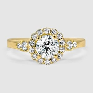 18K Yellow Gold Camillia Diamond Ring