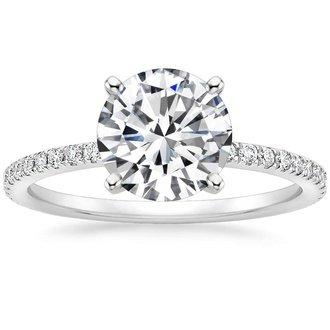 Round engagement rings brilliant earth 18k white gold luxe ballad diamond ring junglespirit Gallery