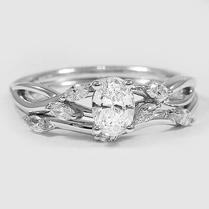 18K White Gold Willow Matched Set (1/4 ct. tw.)