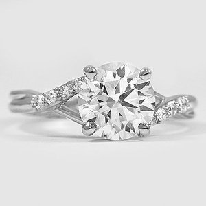 Platinum Chamise Diamond Ring