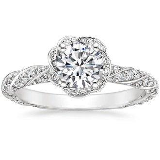 18k white gold cordoba diamond ring - Modern Wedding Rings