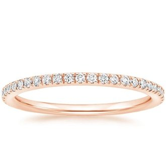 Incroyable 14K Rose Gold. LUXE BALLAD DIAMOND RING ...