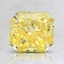 1.55 Ct. Fancy Vivid Yellow Radiant Lab Created Diamond
