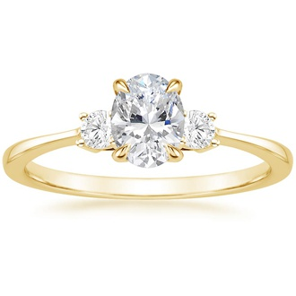 Petite Three Stone Engagement Ring
