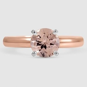 14K Rose Gold Sapphire 3mm Comfort Fit Ring
