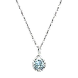 Gemstone jewelry brilliant earth silver aquamarine twist pendant aloadofball Choice Image