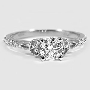 18K White Gold Luxe Celtic Love Knot Diamond Ring